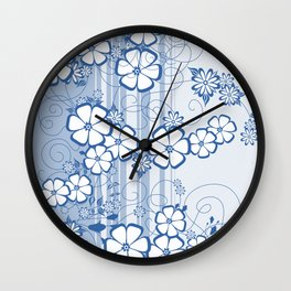 Abstract flowers with background Wall Clock