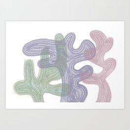 Abstract bushes  Art Print