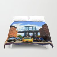 bridge Duvet Covers featuring Bridge by Brown Eyed Lady