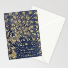 Pride and Prejudice by Jane Austen Vintage Peacock Book Cover Stationery Cards
