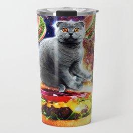 Hamburger Astro Cat On Burger Travel Mug