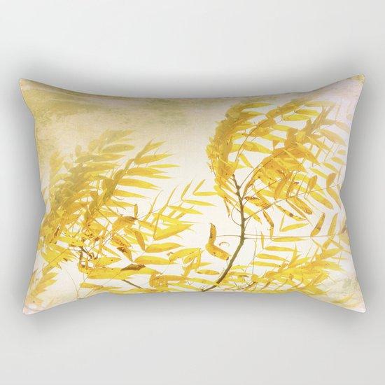 Yellow Branch Rectangular Pillow