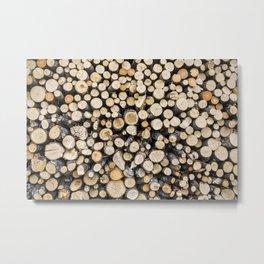 Log Pile Metal Print