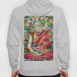14th DALAI LAMA - TENZIN GYATSO - watercolor portrait Hoody