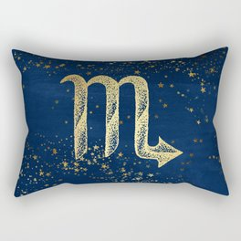 Scorpio Zodiac Sign Rectangular Pillow