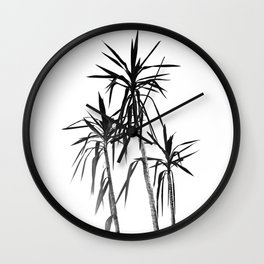 Palm Trees - White Cali Summer Vibes #1 #decor #art #society6 Wall Clock