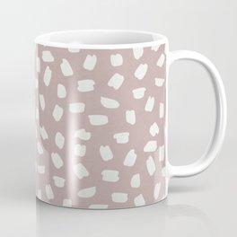 Simply Ink Splotch Lunar Gray on Clay Pink Coffee Mug