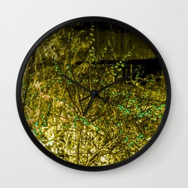 Yellow Berry Wall Clock