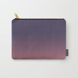 Purple to Coral Carry-All Pouch