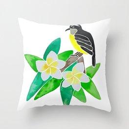 Bananaquit Throw Pillow