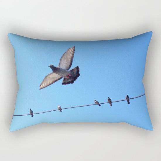bird set free Rectangular Pillow
