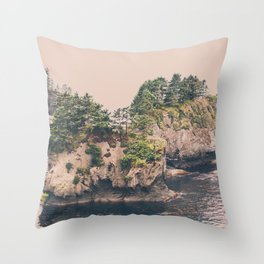 cape flattery trail Throw Pillow