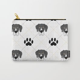 Mantle Great Dane Paw Print Pattern Carry-All Pouch
