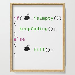 Coffee - coding syntax Serving Tray