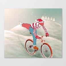 rushing home for christmas Canvas Print