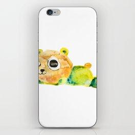unconscious teddy bear iPhone Skin