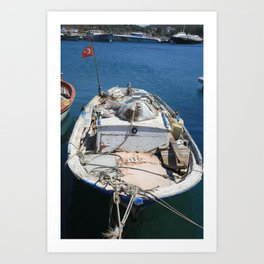 Moored Fishing Boat Art Print