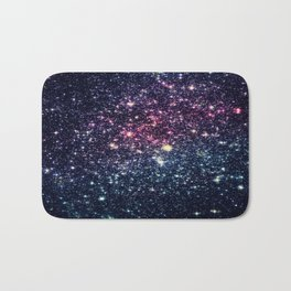 Galaxy Stars : Subtle Purple Mauve Pink Teal Bath Mat