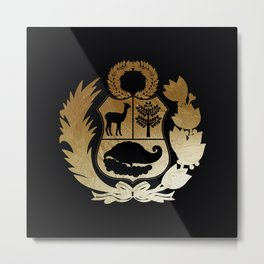 Peru Golden Shield Metal Print