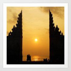 Candi Bentar Sunset Art Print