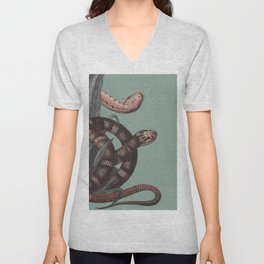 Snakes (animals collection) Unisex V-Neck