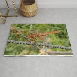 Female Red Skimmer Dragonfly Rug