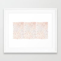 grid Framed Art Prints featuring Grid by Tessa de Guytenaer