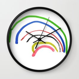 Rainbow sketch Wall Clock