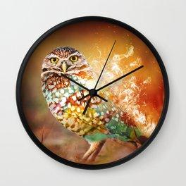 Owl on Fire by GEN Z Wall Clock