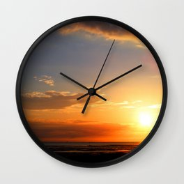 Sunset in the Bay Wall Clock