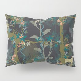 Tropical wild animals in the jungle Pillow Sham