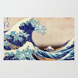 The Great Wave Off Kanagawa Rug
