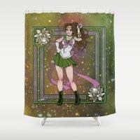 sailor jupiter Shower Curtains featuring Sailor Jupiter by Teo Hoble