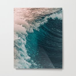 The waves Metal Print