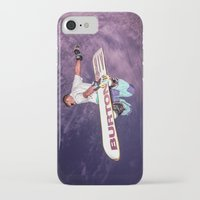 snowboarding iPhone & iPod Cases featuring Snowboarding #2 by Bruce Stanfield