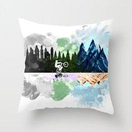 Go to The Mountains Throw Pillow