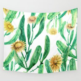 yellow flowers on sunny day Wall Tapestry