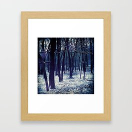 WINTERY Framed Art Print