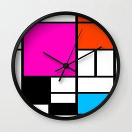 Mondrian Pink Wall Clock
