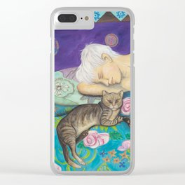 Lazy Sunday Afternoon Clear iPhone Case