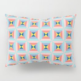 Abstract colorful crystals Pillow Sham
