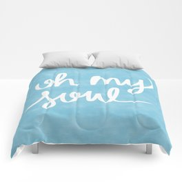Oh My Soul on Blue Comforters