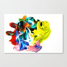 paint on a white background Canvas Print