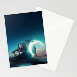 Who stole the moon? #bear Stationery Cards