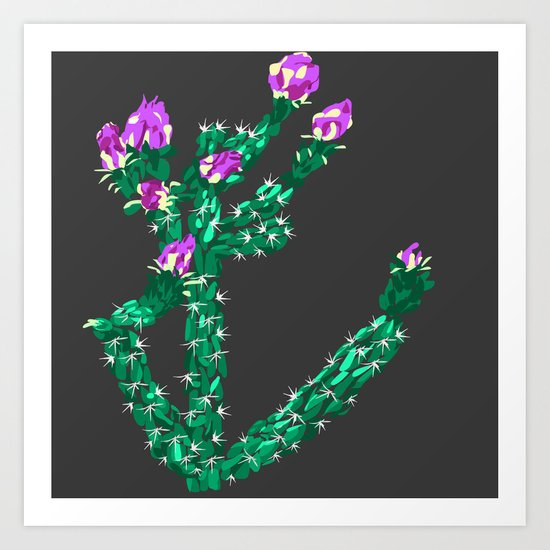 Flowering Cactus Art Print
