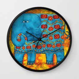 Patterned Elephant Wall Clock