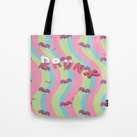 drunk Tote Bags featuring Drunk by Woomin Jeong