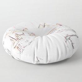 Snowy Village Floor Pillow