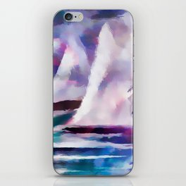 Sailing The Coast Of San Diego by Sherri Of palm Springs/ abstract iPhone Skin