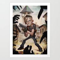 resident evil Art Prints featuring Resident Evil 4 by Max Grecke